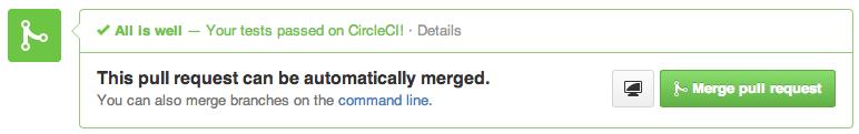 GitHub integration - green build