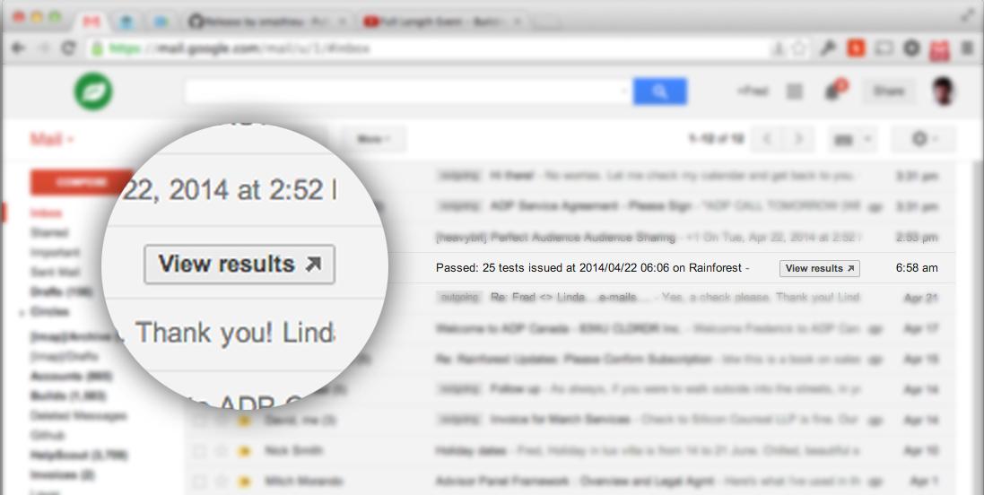 Rainforest Gmail Actions