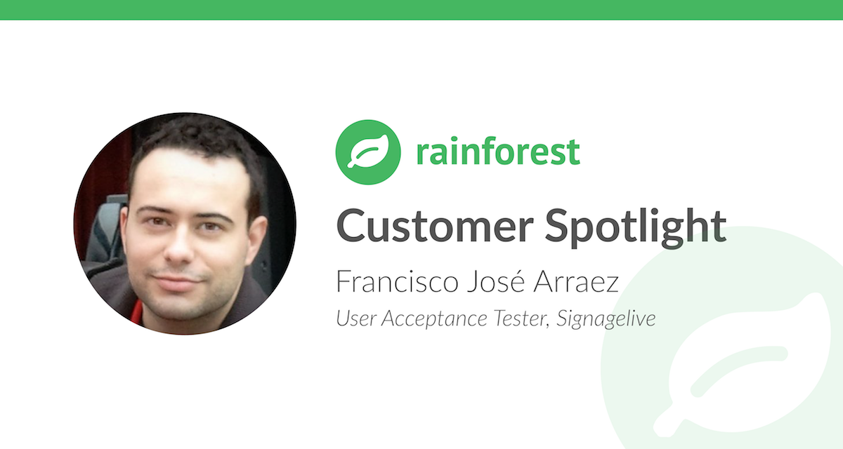 Customer Spotlight Francisco Jose Arraez