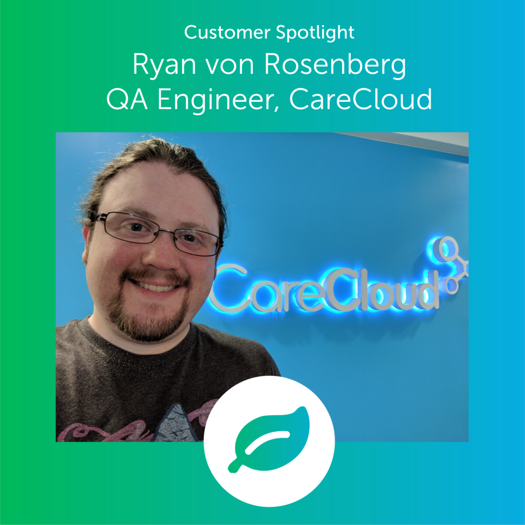 ryan von rosenberg QA engineer for carecloud
